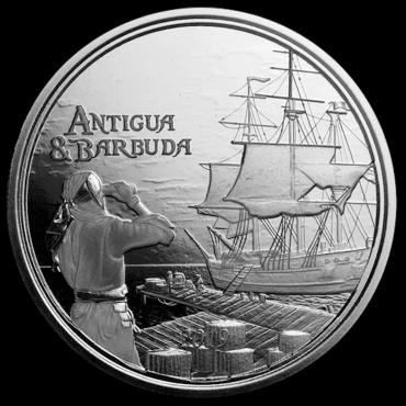 antigua barbuda 1once piece argent2