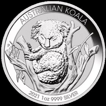 koala 1once argent 2021 avers