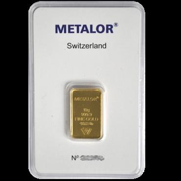 lingot metalor 20grammes or