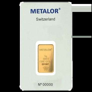 lingot or 5g metalor